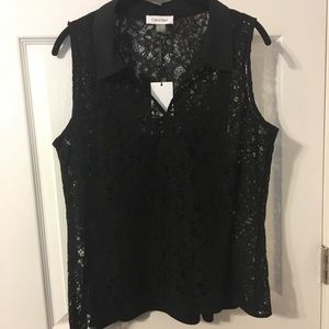 NWT Calvin Klein 2 piece blouse